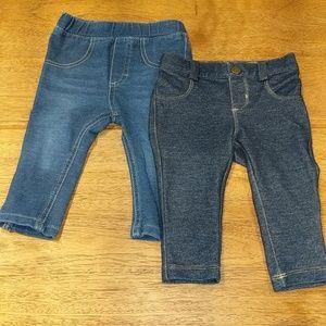 2 pair of Jeggings